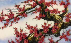 Tranh đá quý hoa đào