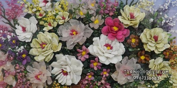 Tranh đá quý - Lọ hoa
