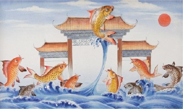 Truyền thuyết về bức tranh đá quý Cá chép hoá rồng