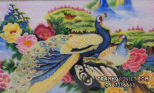 Ý nghĩa phong thủy của bức tranh chim công và hoa mẫu đơn