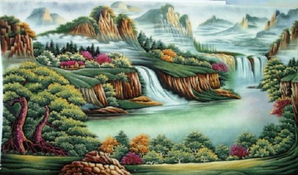 Ý nghĩa của bức tranh đá quý sơn thuỷ hữu tình
