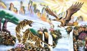 Tranh đá quý Hồ và Đại Bàng có ý nghĩa gì? treo ở đâu hợp phong thủy ?