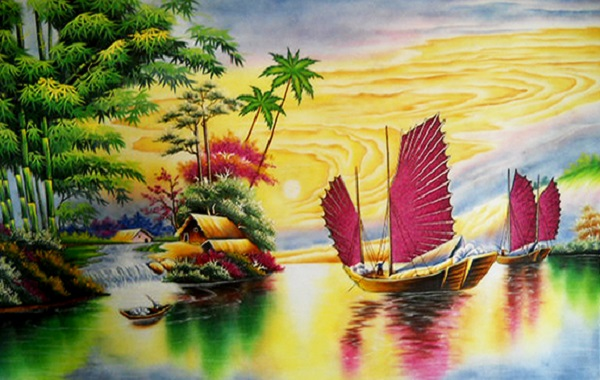 Bức tranh đá quý thuận buồm xuôi gió và ý nghĩa sâu xa của bức tranh
