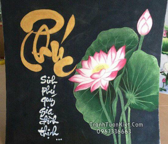 Ý nghĩa tranh chữ phúc và một số mẫu tranh đá quý chứ phúc đẹp