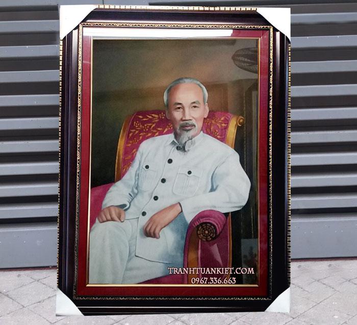 Tranh đá quý chân dung Chủ Tịch Hồ Chí Minh