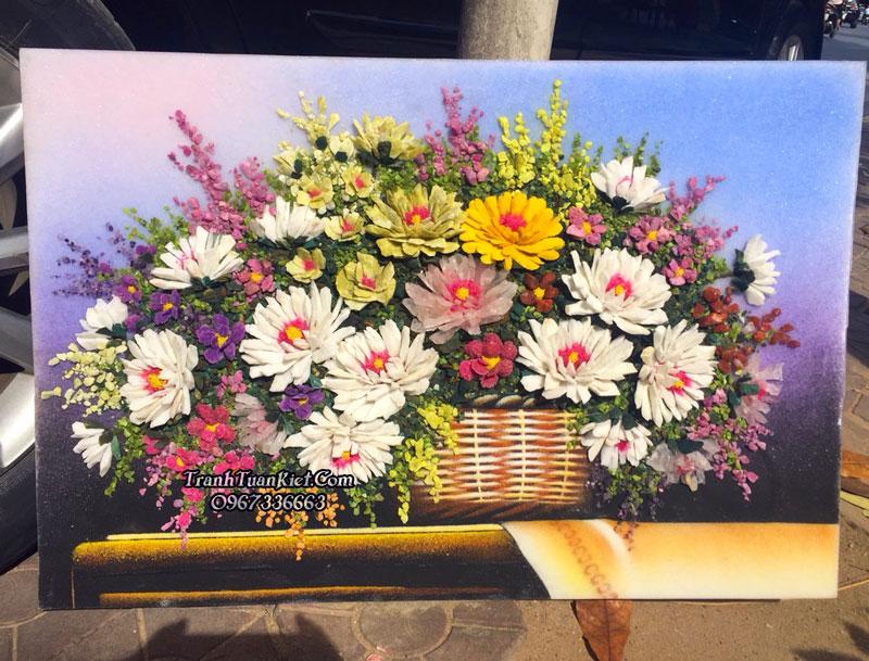 Bát hoa cúc 3D