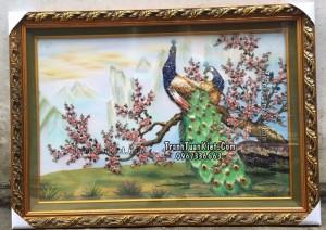 Chim công và hoa đào