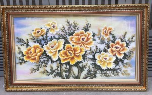 Tranh đá quý hoa mẫu đơn 9 bông